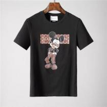 LOUIS VUITTONルイヴィトンtシャツコピーMickey Mouseプリントメンズクルーネック半袖
